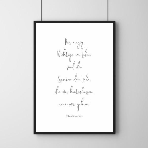Poster - Spuren der Liebe - Zitat