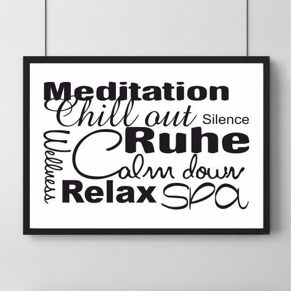 Poster - Meditation Ruhe Wellness
