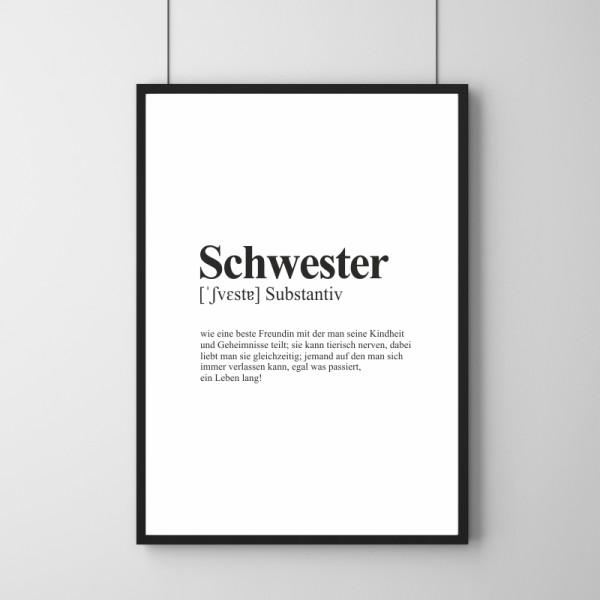Poster - Definition Schwester