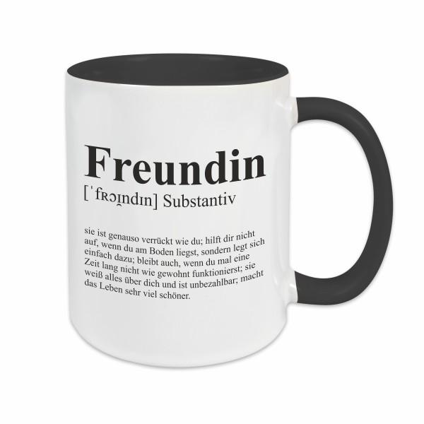 Tasse - Definition Freundin