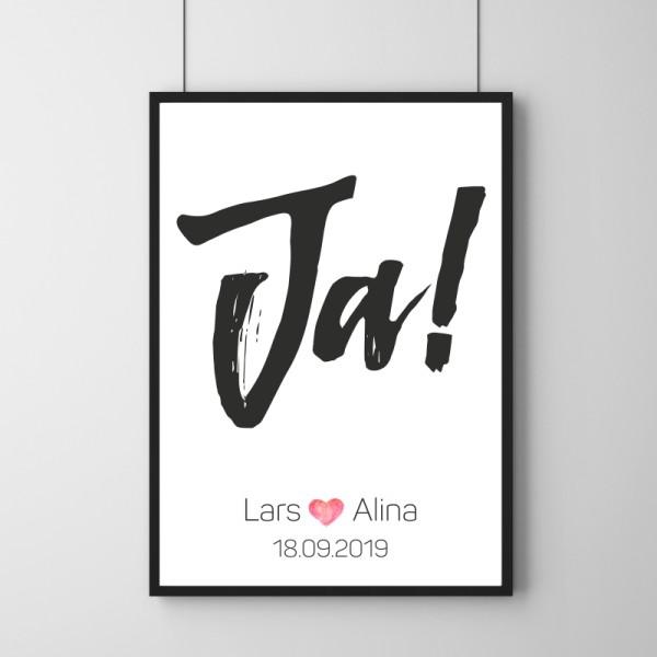 Poster - Ja! - Personalisierbar