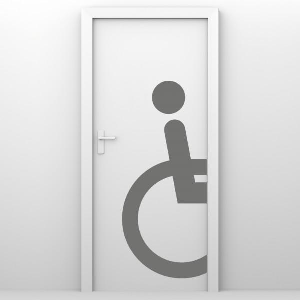 Türaufkleber - Behinderten WC halb