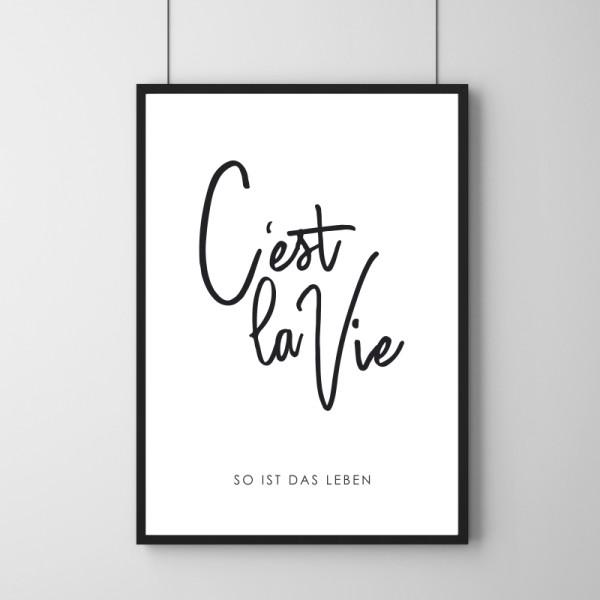 Poster - C'est La Vie