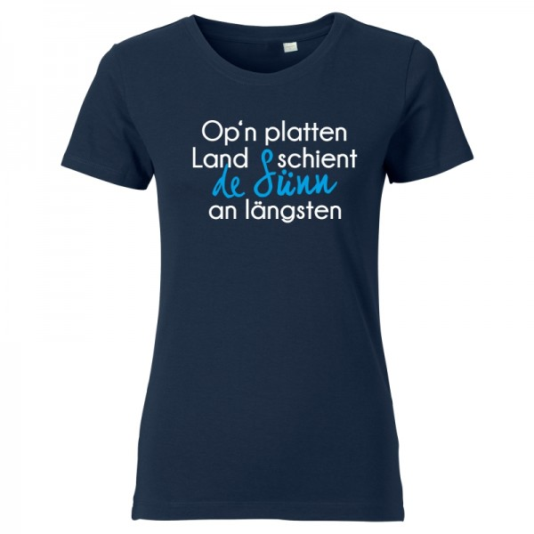 Damen T-Shirt - Op'n platten Land