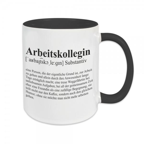 Tasse - Definition Arbeitskollegin