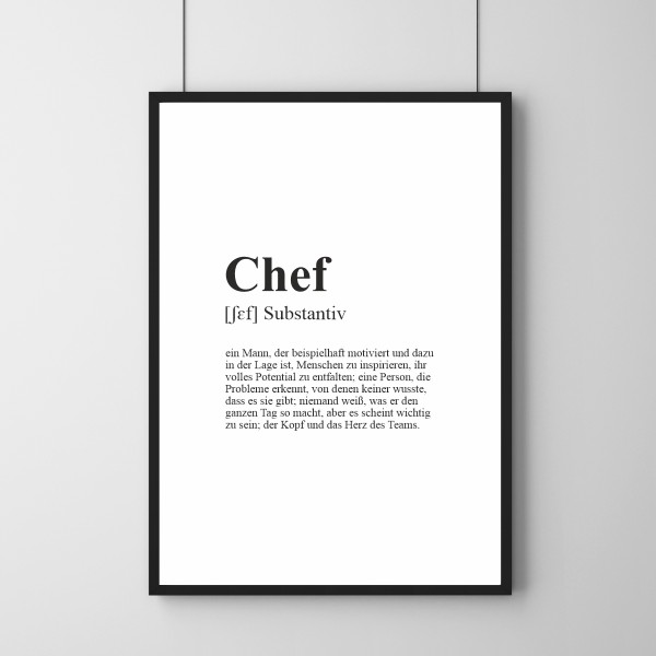 Poster - Definition Chef