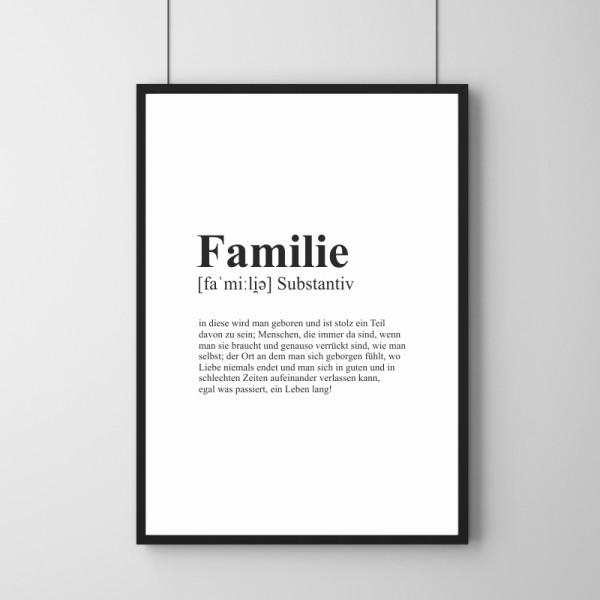 Poster - Definition Familie