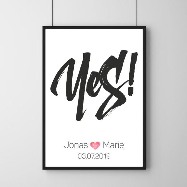 Poster - Yes! - Personalisierbar