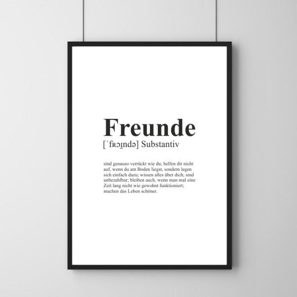 Poster - Definition Freunde