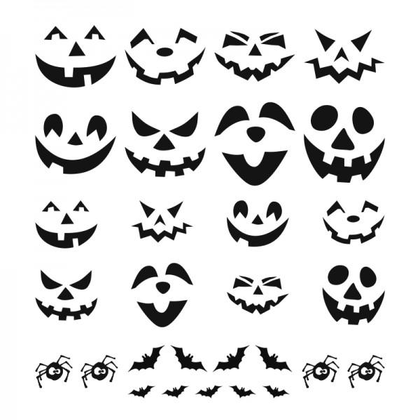 Halloween Glas Aufkleber - 29 Motive