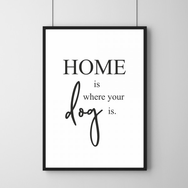 Poster - Home Is Where Your Dog Is