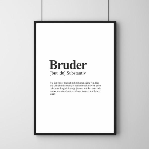 Poster - Definition Bruder