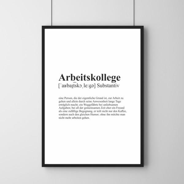 Poster - Definition Arbeitskollege